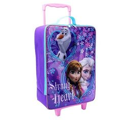 Disney's Frozen at Kohl's - Shop our full selection of luggage, including this Disney Frozen Elsa, Anna & Olaf ''Strong Heart'' Wheeled Luggage Case - Kids, at Kohl's. Frozen Elsa And Anna, Disney Frozen Elsa, Elsa Anna, Frozen Birthday Party, Frozen Party, Birthday Gifts, Birthday Cake, Kids Bedroom Accessories, Frozen Toys