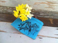 Retro Vintage Turquoise Tea Towel Souvenir by happydayantiques