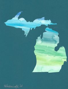 This Michigan is ready to customize with any city or cities you choose to put a heart over. A date, quote, or stamp can also be added around the