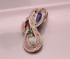 wire wrapped pendant down from 1000 to 750 Chakra