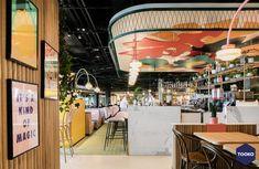 HEKKER  Interieurbouw - Interieurbouw Café Flor op Schiphol Airport - TOOKO – Inspiratie voor een exclusieve werkomgeving Fair Grounds, Fun, Funny