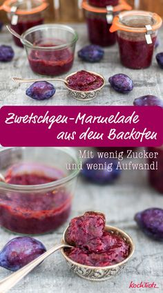 So lecker, wenig Zucker und der Backofen kocht die Marmelade!  #zwetschgen #pflaumen #marmelade #rezept #ofenmarmelade #wenigzucker #einfach Vegan Facts, Good Food, Yummy Food, Food Facts, Fabulous Foods, Cookie Desserts, Plant Based Recipes, Diy Food, Vegan Recipes