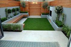 Small Backyard Gardens, Small Backyard Design, Modern Garden Design, Modern Backyard, Backyard Garden Design, Small Backyard Landscaping, Contemporary Garden, Small Gardens, Patio Design