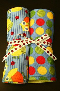 Tried & True Tutorial: Baby Burp Cloths