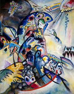 Wassily Kandinsky Synasthetic German Expressionist painter and color theorist. Pablo Picasso, Abstract Expressionism, Abstract Art, Abstract Landscape, Modern Art, Contemporary Art, Kandinsky Art, Wassily Kandinsky Paintings, Marc Chagall