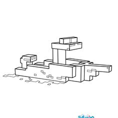Minecraft Boat coloring page. More Minecraft and Video games content on hellokids.com