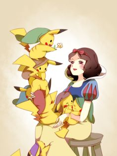 Blancanieves y los siete Pikachus