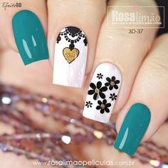 Creative Nail Designs, Acrylic Nail Designs, Nail Art Designs, Perfect Nails, Gorgeous Nails, Cute Nails, Pretty Nails, Maybelline Nail Polish, Daisy Nails