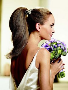 bridal hair trends 2013 fashion and styles wedding ponytail hairstyles Latest Hairstyles, Ponytail Hairstyles, Straight Hairstyles, Girl Hairstyles, Bridal Hairstyles, Ponytail Updo, Sleek Ponytail, Bollywood Hairstyles, Long Hairstyles