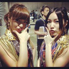 Sae and newest Team K member, Jurina #AKB48