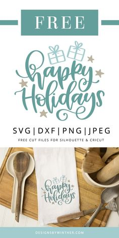 Free Happy Holidays svg file for cutting machines, such as sihouette and cricut. Use on all your creative crafts this holiday season. craft to sell Free Happy holidays SVG DXF PNG & JPEG Crafts For Teens To Make, Diy And Crafts, Crafts To Sell, Easy Crafts, Free Font Design, Free Svg, Christmas Desserts Easy, Desserts For A Crowd, Dessert Recipes