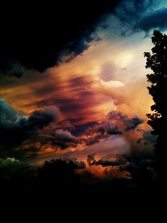 """God painted a picture in the sky, just for you and I.         I know it should be """"you and me"""", but I wanted it to rhyme."""