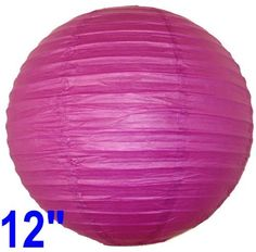 "Fuchsia Purple Chinese/Japanese Paper Lantern/Lamp 12"" Diameter - Just Artifacts Brand by Just Artifacts. $3.50. Great for party and home decoration. Check Just Artifacts products for more available colors/sizes."