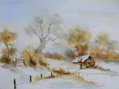 paysage noel aquarelle - Recherche Google