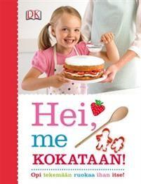 Hei, me kokataan! johdattaa lapset innostavasti ruoanlaiton ihmeelliseen maailmaan.Kirjan myötä lapset oppivat valmistelemaan, tekemään ja tarjoamaan ruokaa (äidin avustuksella).Hei, me kokataan! on täydellinen sekoitus terveellisiä reseptejä, hyödyllistä ruokatietoutta ja hauskoja tehtäviä.Lapset muun muassa oppivat, mistä muna koostuu, missä vihannekset kasvavat, kuinka jauhoja valmistetaan ja paljon, paljon muuta!