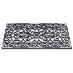 Rubbermat  / Inca silver rect 312-002 / 45 cm x 75 cm /