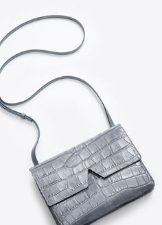 Vince Signature Collection Stamped Croc Baby Crossbody | Vince