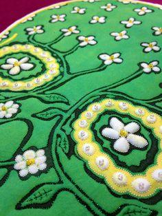 green woman detail