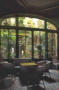 The Home of Henri & Françoise Quinta in Perpignan, France. The Winter Garden effect of the atrium means that light fills the heart of the house.