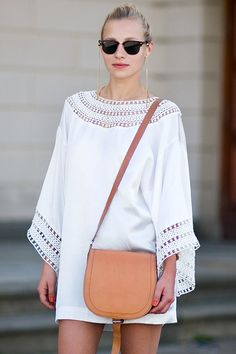 White Summer Kaftan Outfit