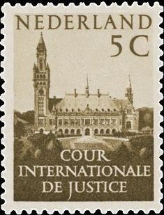 Марка: Peace Palace, The Hague (Нидерланды) (International Court of Justice) Mi:NL The Hague Netherlands, International Court Of Justice, Social Justice, Art And Architecture, Palace, Taj Mahal, Stamps, Travel, Seals