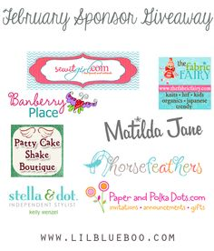 I want to win the big Sponsor Giveaway at lilblueboo.com - Amazing sponsors and one reader will win it all!