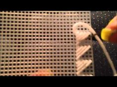 How to Whipstitch Two Pieces of Plastic Canvas Together - YouTube