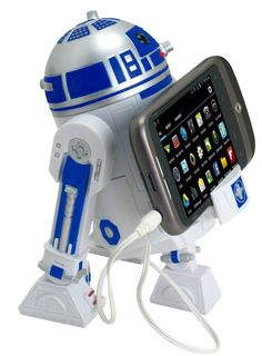 Star Wars Smart Phone Speaker Dock R2D2    Supports all Smart Phones, MP3, and media players via 3.5 mm auxiliary input; Star Wars sound and light effects when turned on; Light weight and portable.  Price: $29.99