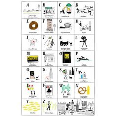 NYC loves ABC ~ NYC alphabet poster