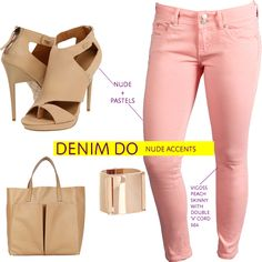 Nudes and Pastels are a match made in heaven. Don't you agree? Cc: pastel colored jeans