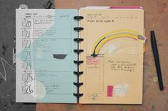 Week, day and month 5.5 x 8.5 planner template download. #diy #planner #discbound