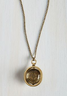 Guide and True Necklace.  #gold #modcloth