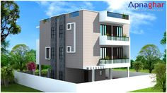 Luxury is the #mantra behind this 4 Bedroom Duplex House Design in 240 sq mt. #architecture #houseDesigns #elevations Email: support@apnaghar.co.in Follow link to see more details or to purchase. http://www.apnaghar.co.in/house-design-464.aspx
