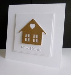 ~ New Home by sistersandie - Cards and Paper Crafts at Splitcoaststampers New Home Cards, New Home Gifts, Paper Cards, Diy Cards, Housewarming Card, Happy New Home, Cricut Cards, Marianne Design, Congratulations Card