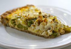 Asparges- eller skinkepai – Berit Nordstrand Ricotta, Baked Potato, Quiche, Potatoes, Baking, Breakfast, Ethnic Recipes, Food, Pie