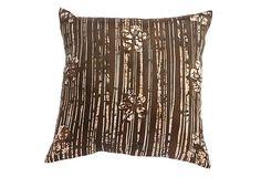 Large silk pillow