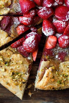 NYT Cooking: With a double filling of homemade strawberry compote sitting on top of a layer pistachio frangipane, this elegant galette is a perfect way to showcase ripe summer berries. It is a bit more demanding to make than many other galettes, but you can do it in stages, making the dough, the compote and the frangipane a few days ahead, then bake on the same day as you p...