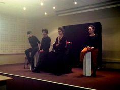 Dans le cadre du Jumelage du Théâtre avec le Collège du Château, les élèves ont assisté au spectacle 'Ernestino' dans leur établissement.