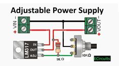 - Adjustable DC power supply easy & simple electronic circuit components required method & more – S - Simple Electronic Circuits, Electronic Circuit Design, Electronic Kits, Electronic Schematics, Electronic Workbench, Electronics Engineering Projects, Electronics Projects For Beginners, Electronic Engineering, Simple Electronics