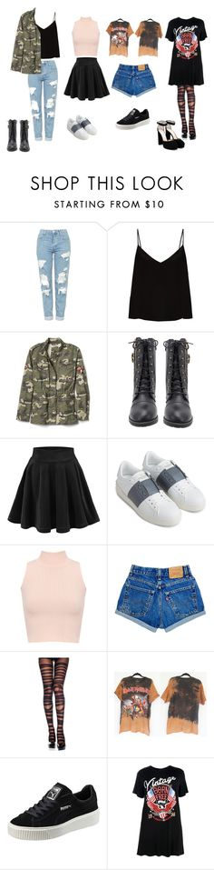 """My 2017 Style"" by violetdreamsx on Polyvore featuring Topshop, Raey, Gap, Valentino, WearAll, Puma, Boohoo and Jimmy Choo"