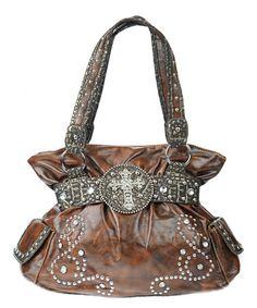 Look at this #zulilyfind! Brown Western Embellished Handbag by Princess Purse #zulilyfinds