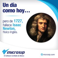 Un día como hoy, 20 de marzo, pero de 1727 fallece Isaac Newton, físico inglés.