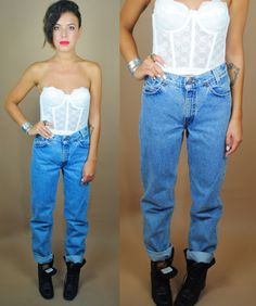 Vintage 1990s High Waist LEVIS blue jeans by IndieStyleSociety, $42.00
