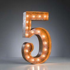 """""""5"""" Marquee Light, $159, now featured on Fab. [Jerrad Green, Vintage Marquee Lights]"""