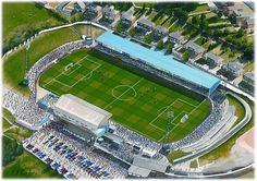 Springfield Park in Art, former home of Wigan Athletic F.C. Great gifts @ sportsstadiaart.com