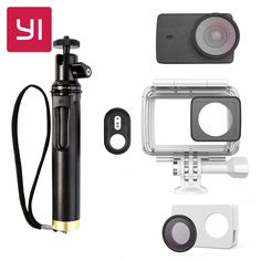 87.99$  Watch now - YI 4K Camera Waterproof Case With Selfie stick & Bluetooth Remote & Protective Lens & Leather case Underwater Sports YI Official   #shopstyle