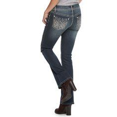 Women's Apt. 9® Embellished Bootcut Jeans, Size: 10 Short, Med Blue