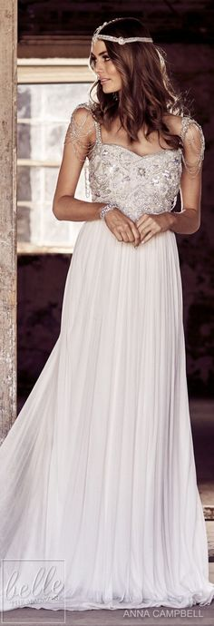 Wedding Dress by Anna Campbell Eternal Heart collection 2018 Hochzeitskleid von Anna Campbell Eternal Heart Kollektion 2018 2nd Wedding Dresses, Bohemian Wedding Dresses, Gorgeous Wedding Dress, Bridal Dresses, Beautiful Dresses, Bridesmaid Dresses, Anna Campbell, Vestidos Vintage, Vintage Dresses