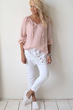 CINDY Linen blouse, PINK