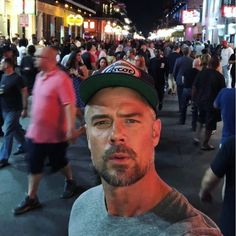 Instagram post by Josh Duhamel • May 12, 2018 at 5:26am UTC - Bourbon Street French Quarter, NOL Halle Berry Baby, Eric Dane, French Man, Swag Boys, Tamar Braxton, Baby George, Hottest Male Celebrities, Diane Lane, Royal Babies